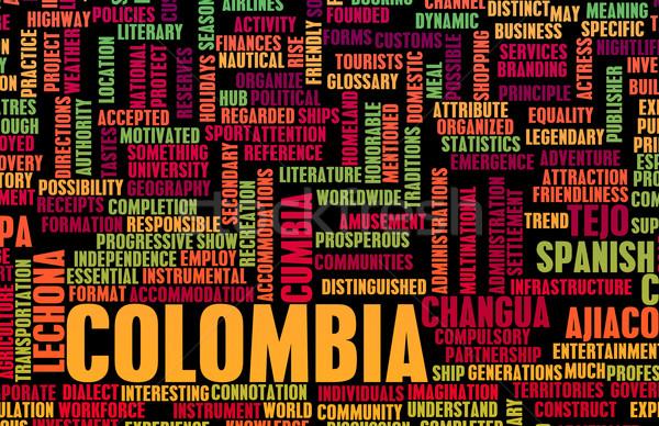 Colombia vidék absztrakt művészet üzlet háttér Stock fotó © kentoh