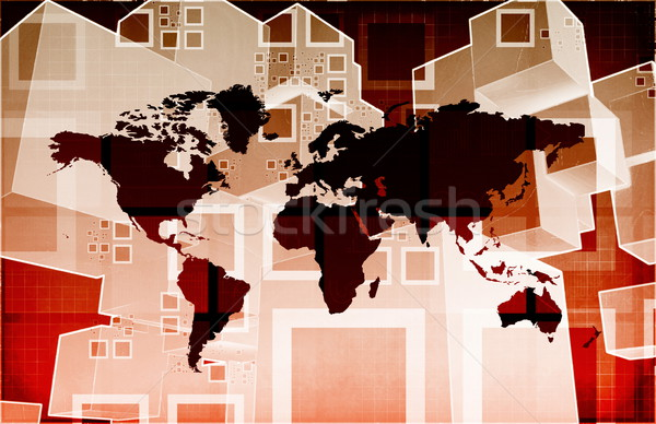 Global Business Logistics Stock photo © kentoh