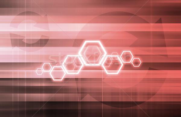 Technologie vie privée ligne numérique droits art Photo stock © kentoh