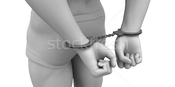 Man in Handcuffs Stock photo © kentoh
