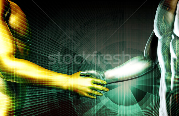 Sozialen Entdeckung Internet Netzwerk Reise Marketing Stock foto © kentoh