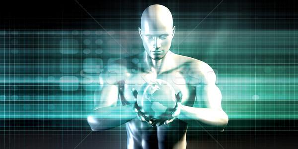 Dwójkowy technologii strumienia tle internetowych danych Zdjęcia stock © kentoh