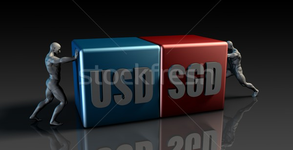 USD SGD Currency Pair Stock photo © kentoh