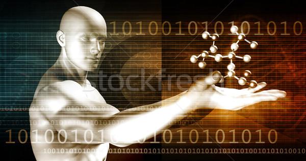 Médico genética genético dna abstrato imagem Foto stock © kentoh