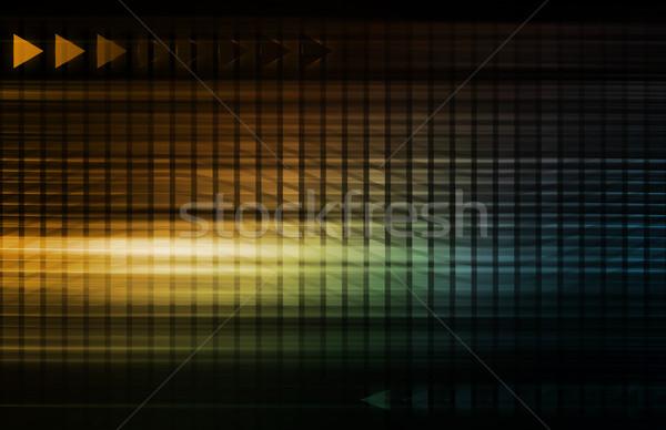 Numérique gestion droits automatisation affaires technologie Photo stock © kentoh