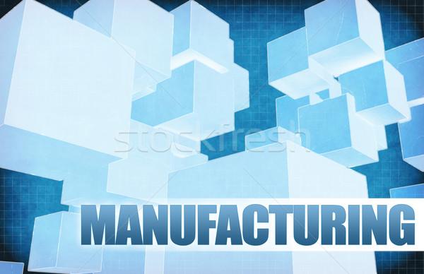 Fabrico futurista abstrato apresentação deslizar reunião Foto stock © kentoh