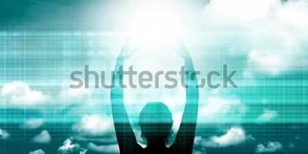 Neue Technologie Lösungen Business Hintergrund Stock foto © kentoh