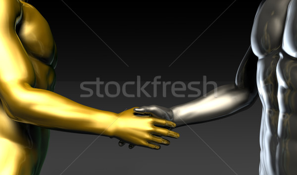 üzlet kézfogás kettő cégek bulik kezek Stock fotó © kentoh