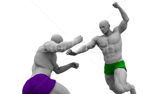 Gemengd vechtsporten opleiding achtergrond sport gek Stockfoto © kentoh