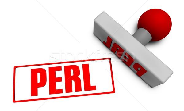 Perl Stamp Stock photo © kentoh