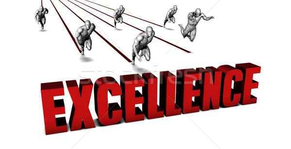Mejor excelencia equipo de negocios carreras empresario ejecutando Foto stock © kentoh