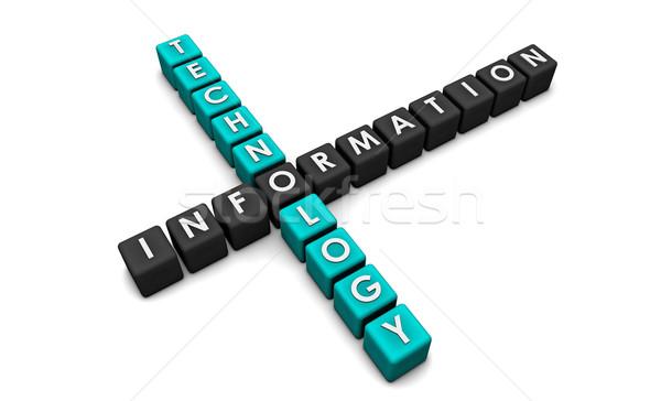 Bilgi teknolojisi 3D bloklar arka plan ağ kurumsal Stok fotoğraf © kentoh
