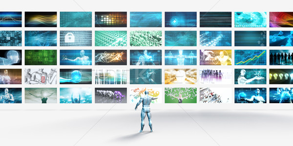 Vídeo marketing analítica análise tecnologia internet Foto stock © kentoh