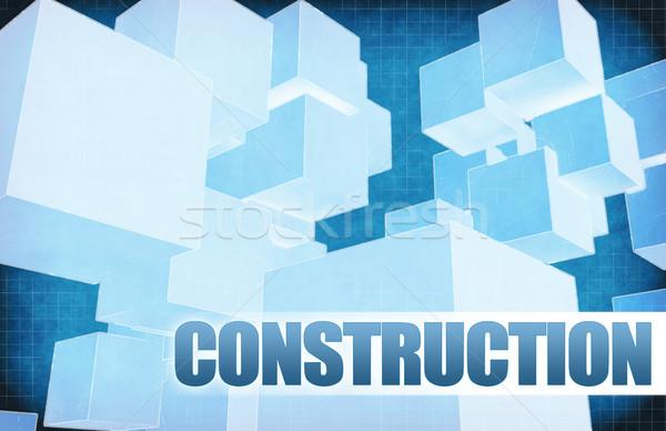 Construction on Futuristic Abstract Stock photo © kentoh