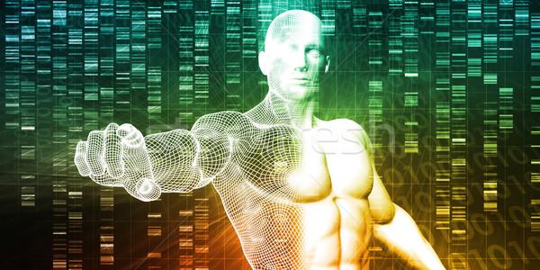 医療 研究 遺伝学 DNA鑑定を 科学 技術 ストックフォト © kentoh