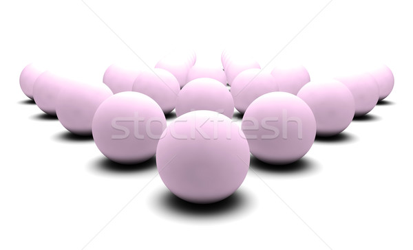 Numérique sphères 3D blanche résumé foule Photo stock © kentoh