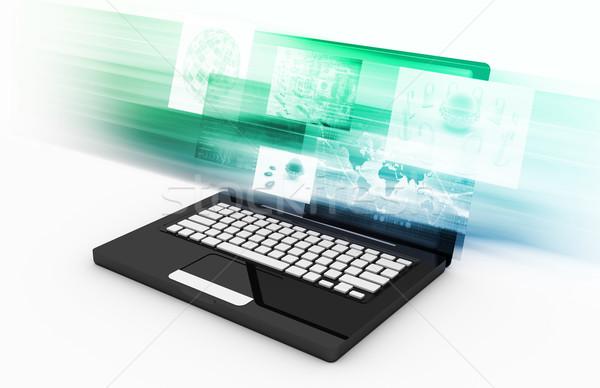 Elektronicznej handlu przemysłu usługi działalności Internetu Zdjęcia stock © kentoh
