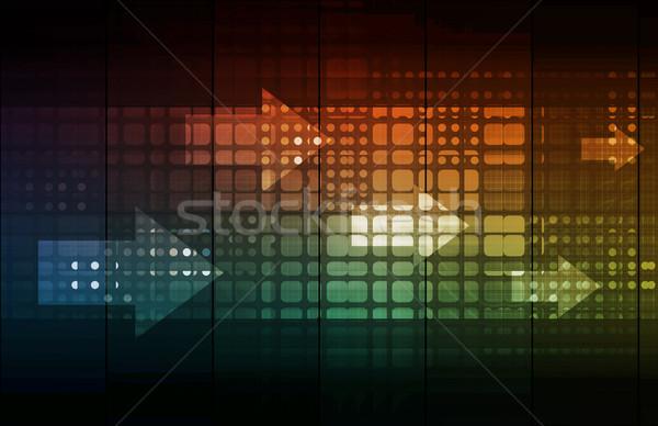 Affaires mobilité accès technologie fond réseau Photo stock © kentoh