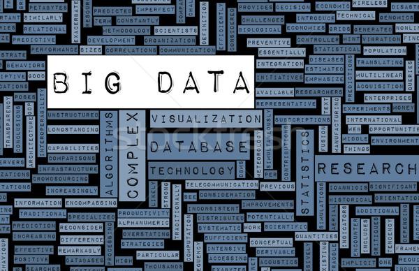 Groot gegevens technologie business software informatie Stockfoto © kentoh