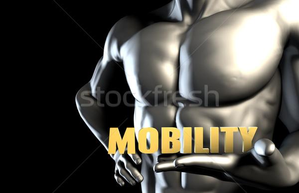 Mobilité homme d'affaires homme fond affaires Photo stock © kentoh