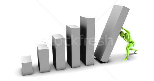 Kemény munka erőfeszítés siker diagram ötlet növekedés Stock fotó © kentoh