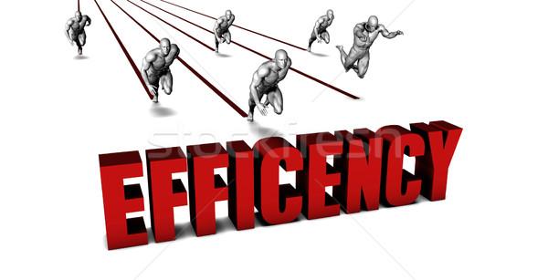 Jobb üzleti csapat versenyzés üzlet férfiak fut Stock fotó © kentoh