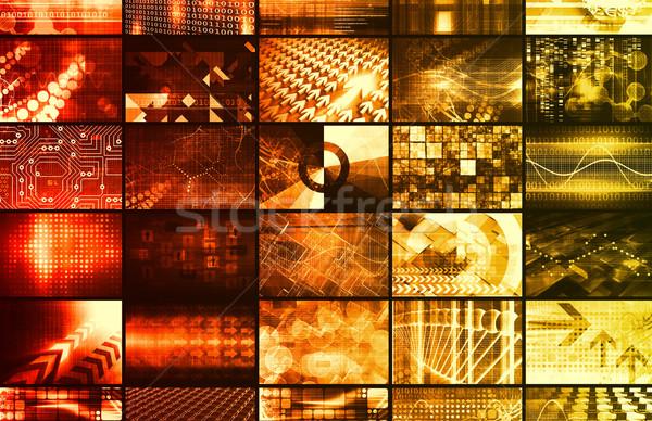 Dijital pazarlama sosyal ağ Internet arka plan web Stok fotoğraf © kentoh