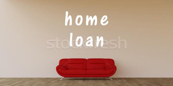 Mutuo per la casa home interni arte industria divano Foto d'archivio © kentoh