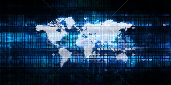 Partout dans le monde affaires marché site internet monde Photo stock © kentoh
