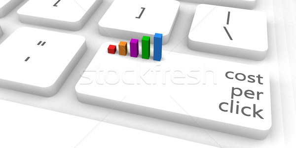 Costo por clic teclado bar industria Foto stock © kentoh
