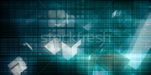 Digitális jel technológia absztrakt minta művészet Stock fotó © kentoh