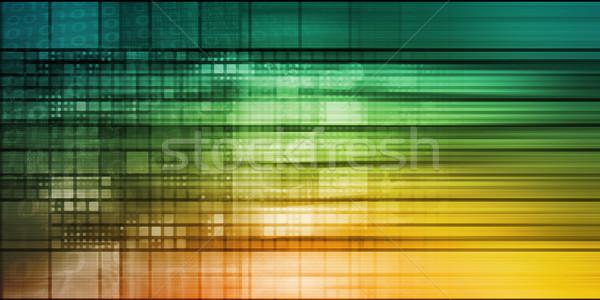 Technology Mosaic Background Stock photo © kentoh