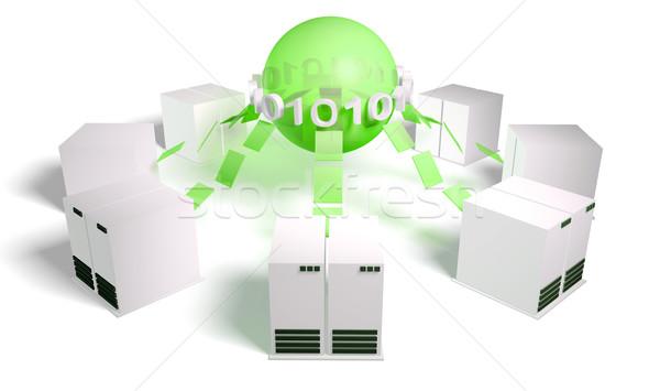 Crowdsourcing kalabalık teknoloji sanat bilgisayar ışık Stok fotoğraf © kentoh