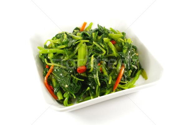Egészséges pázsit párolt zöldségek izolált fehér Stock fotó © kentoh