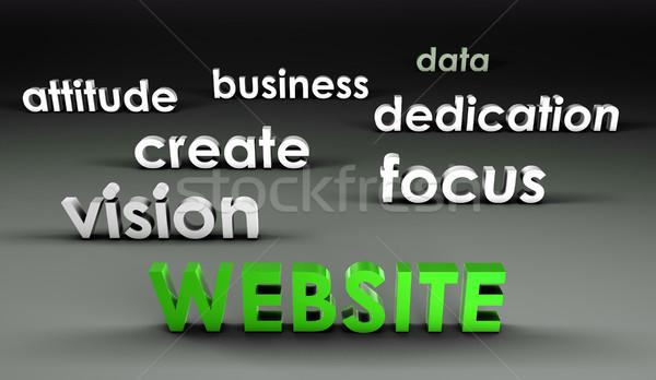 Web sitesi 3D tanıtım iş arka plan kurumsal Stok fotoğraf © kentoh