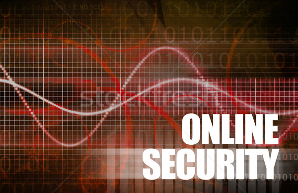 Online veiligheid web gegevens internet software Stockfoto © kentoh
