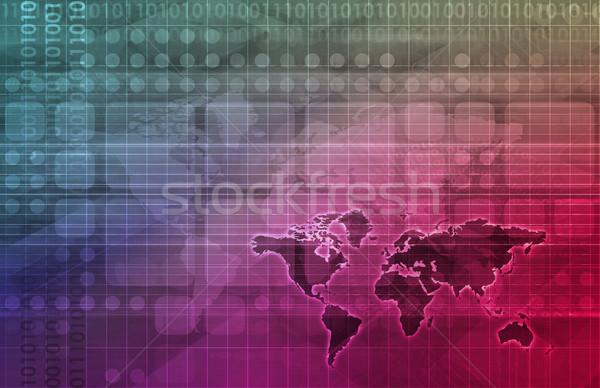 Zaawansowany technologii nauki działalności streszczenie projektu Zdjęcia stock © kentoh
