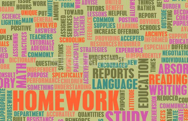 Hausaufgaben Schule Arbeit Studenten Hintergrund Bildung Stock foto © kentoh