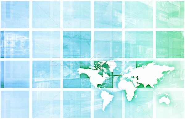 Global de negócios sucesso crescimento arte computador segurança Foto stock © kentoh