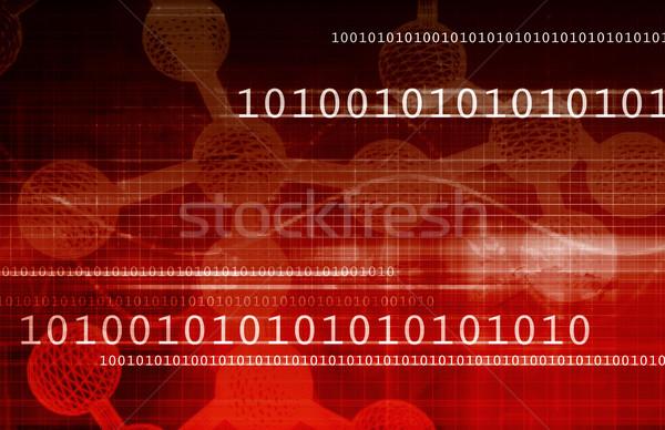 Futuristisch Technologie abstrakten Business Internet Stock foto © kentoh