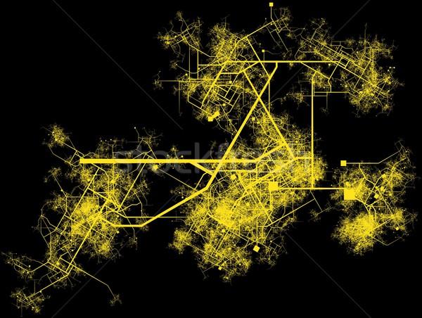 şehir altyapı planlama yollar binalar yol Stok fotoğraf © kentoh