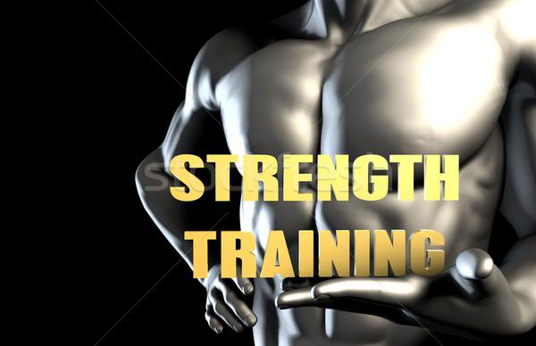 Trening siłowy człowiek biznesu człowiek przemysłu usługi Zdjęcia stock © kentoh