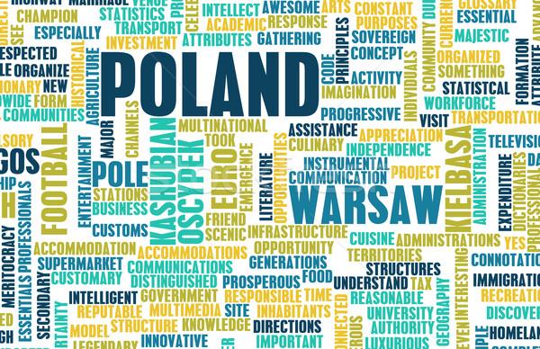 Pologne pays résumé art affaires football Photo stock © kentoh
