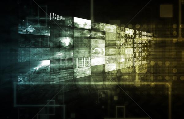 Cms technologii działalności usługi informacji danych Zdjęcia stock © kentoh