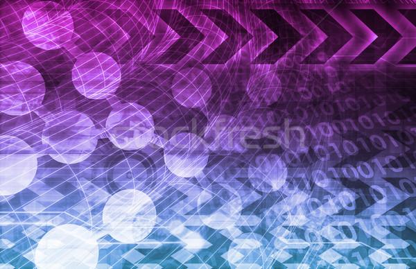 Moleculen nucleaire onderzoek medische Stockfoto © kentoh