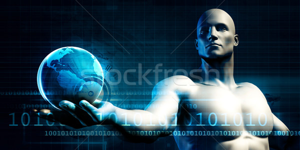 światowy działalności międzynarodowych dotrzeć Internetu Pokaż Zdjęcia stock © kentoh