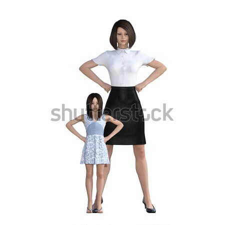 Mother Daughter Interaction of Teaching Discipline Stock photo © kentoh