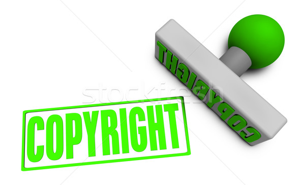 Copyright Stamp Stock photo © kentoh