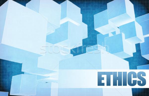 Etica futuristico abstract presentazione slide design Foto d'archivio © kentoh
