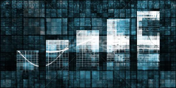 Numérique analytics graphique à barres graphique art fond Photo stock © kentoh